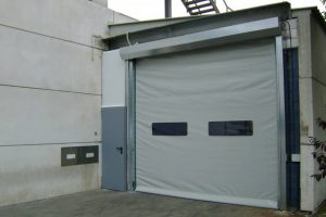 White High Speed Self Repairing Door