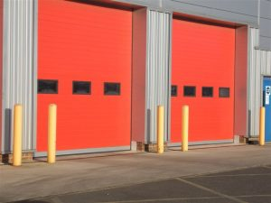 High Speed Folding Doors, Red