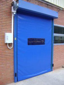 Blue High Speed Roller Shutter Doors, Manchester- UKHighSpeedDoors.co.uk