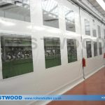 PVC Partition Curtain Walling With Transparent Panels