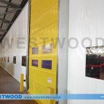 PVC Partition Curtain Walling With High Speed Folding Door