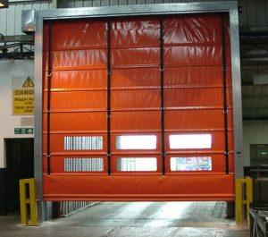 Orange Rapid Roll Door-UKHighSpeedDoors.co.uk