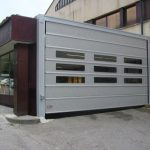High Speed Folding Doors With Transparent Panels- UKHighSpeedDoors.co.uk