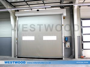 High Speed Door With Windows- UKHighspeeddoors.co.uk