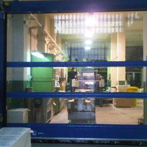 High Speed Door With Windows, 600 x 600- UKHighSpeedDoors.co.uk