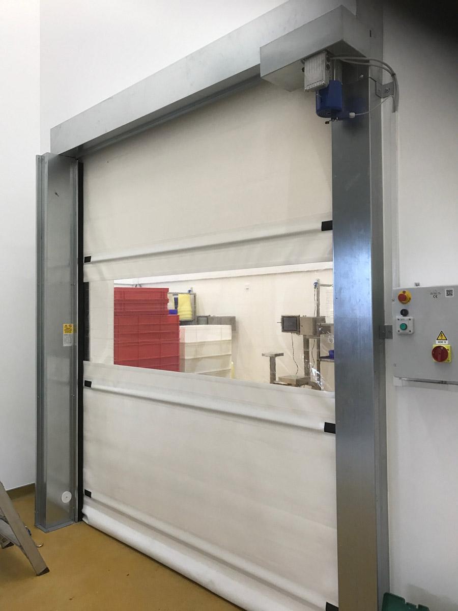 High speed door with external roller shutter derby uk